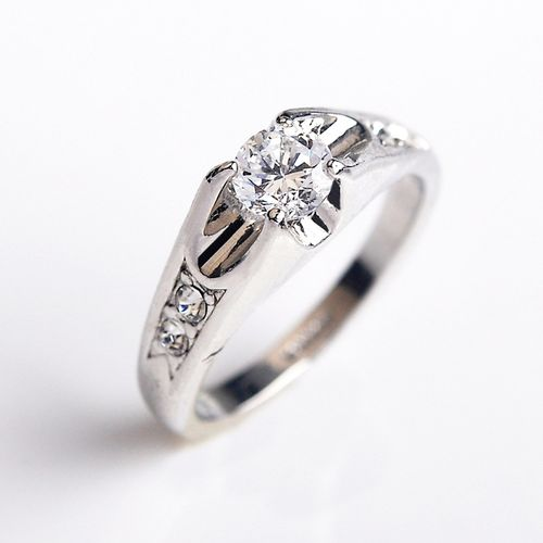 Кольцо под белое золото