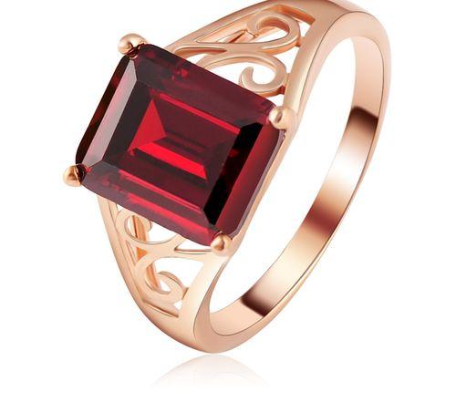 Кольцо с напылением розового золота