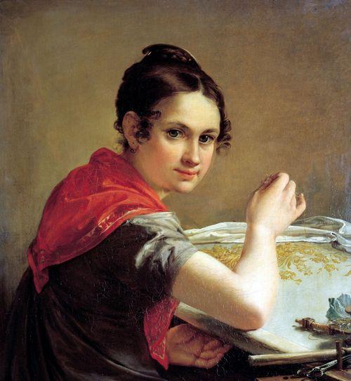 Картина «Золотошвейка»