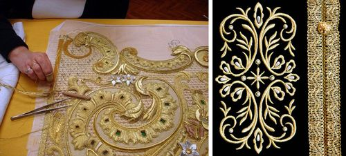 Вышивка золотом для церкви