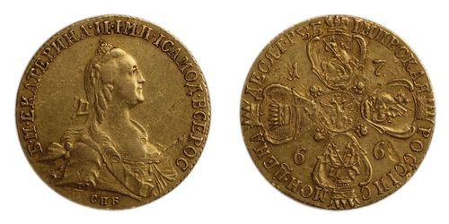 Монета из червонного золота
