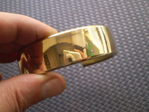 Кольцо с фальшивым золотым покрытием