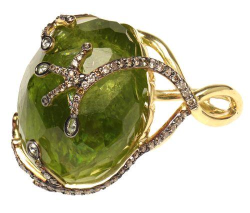 Зеленое золото с камнем