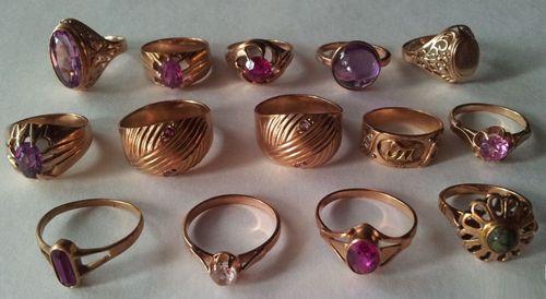 Золотые кольца в ломбарде